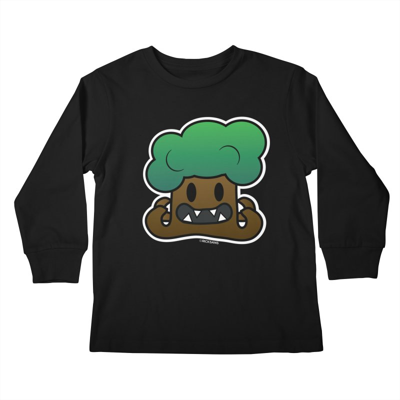 Jubokko Tree Monster by Rick Sans Kids Longsleeve T-Shirt by Rick Sans' Artist Shop