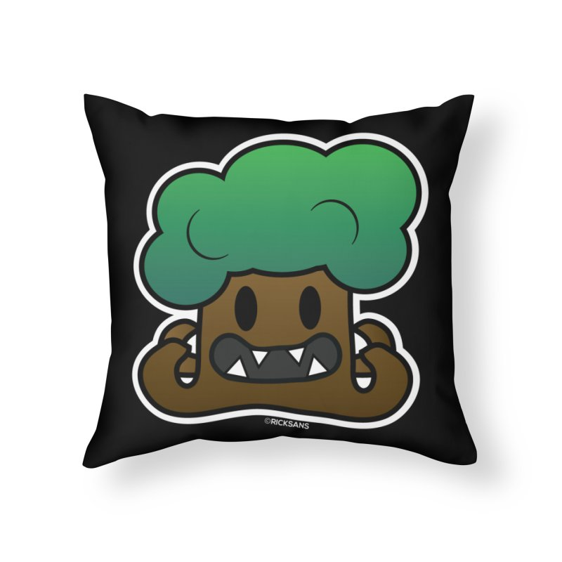 Jubokko Tree Monster by Rick Sans Home Throw Pillow by Rick Sans' Artist Shop