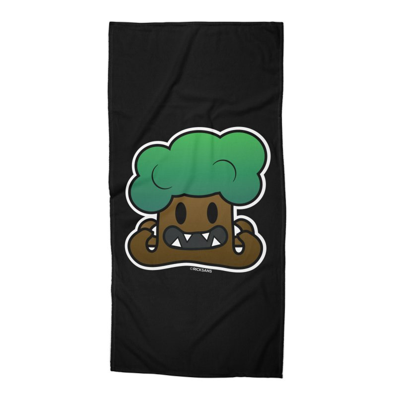 Jubokko Tree Monster by Rick Sans Accessories Beach Towel by Rick Sans' Artist Shop