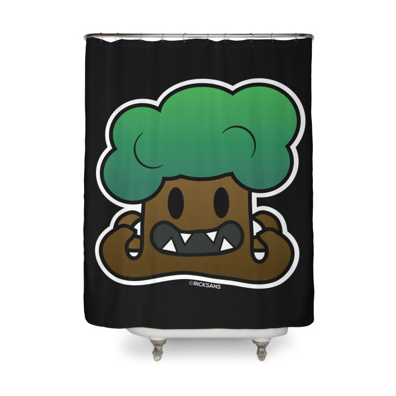 Jubokko Tree Monster by Rick Sans Home Shower Curtain by Rick Sans' Artist Shop