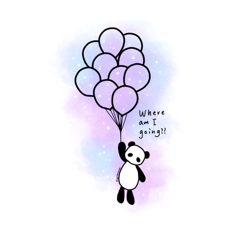 Panda Fly with Balloons Home Fine Art Print by RingoHanasaki's Artist Shop