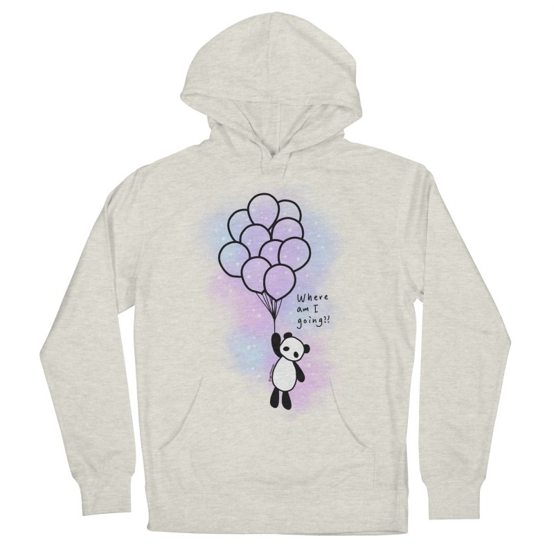 Panda Fly with Balloons Women's French Terry Pullover Hoody by RingoHanasaki's Artist Shop