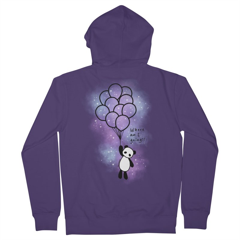 Panda Fly with Balloons Women's French Terry Zip-Up Hoody by RingoHanasaki's Artist Shop