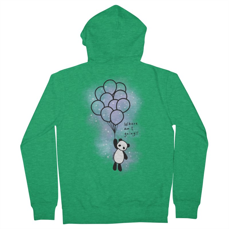 Panda Fly with Balloons Men's Zip-Up Hoody by RingoHanasaki's Artist Shop
