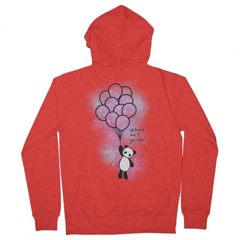 Panda Fly with Balloons Men's Zip-Up Hoody by RingoHanasaki's Artist Shop