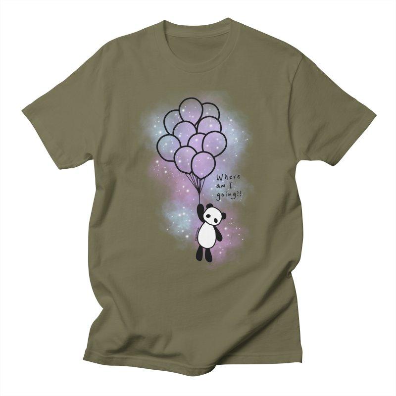Panda Fly with Balloons Men's T-Shirt by RingoHanasaki's Artist Shop