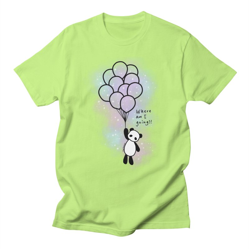 Panda Fly with Balloons Men's T-Shirt by RingoHanasaki's Artist Shop