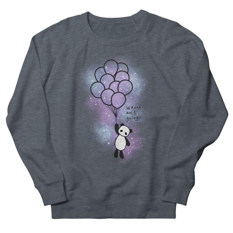 Panda Fly with Balloons Women's French Terry Sweatshirt by RingoHanasaki's Artist Shop