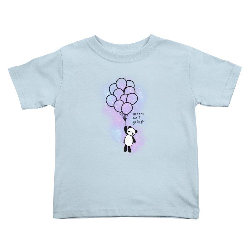 Panda Fly with Balloons Kids Toddler T-Shirt by RingoHanasaki's Artist Shop