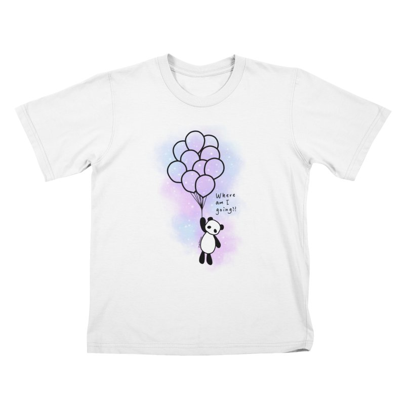 Panda Fly with Balloons Kids T-Shirt by RingoHanasaki's Artist Shop