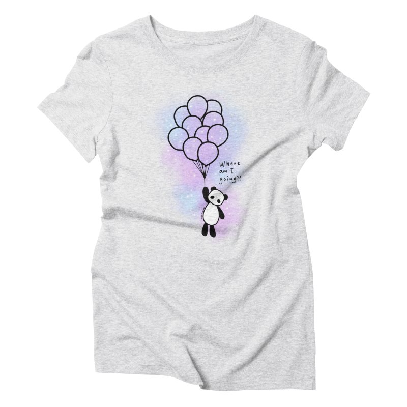 Panda Fly with Balloons Women's T-Shirt by RingoHanasaki's Artist Shop