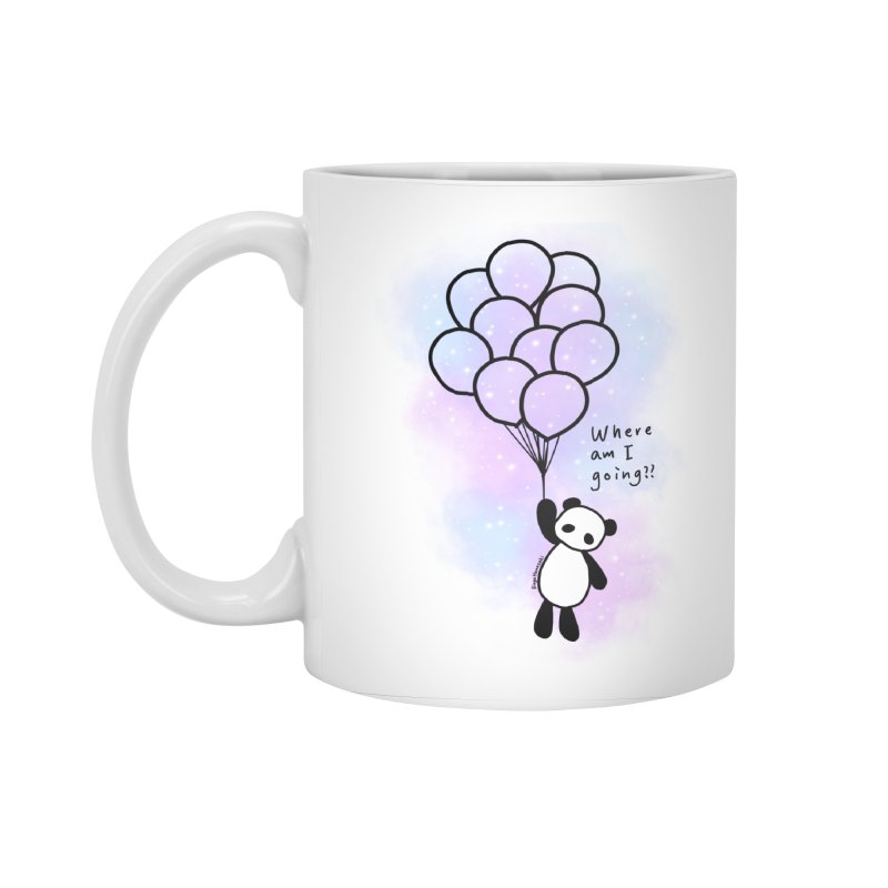 Panda Fly with Balloons Accessories Standard Mug by RingoHanasaki's Artist Shop