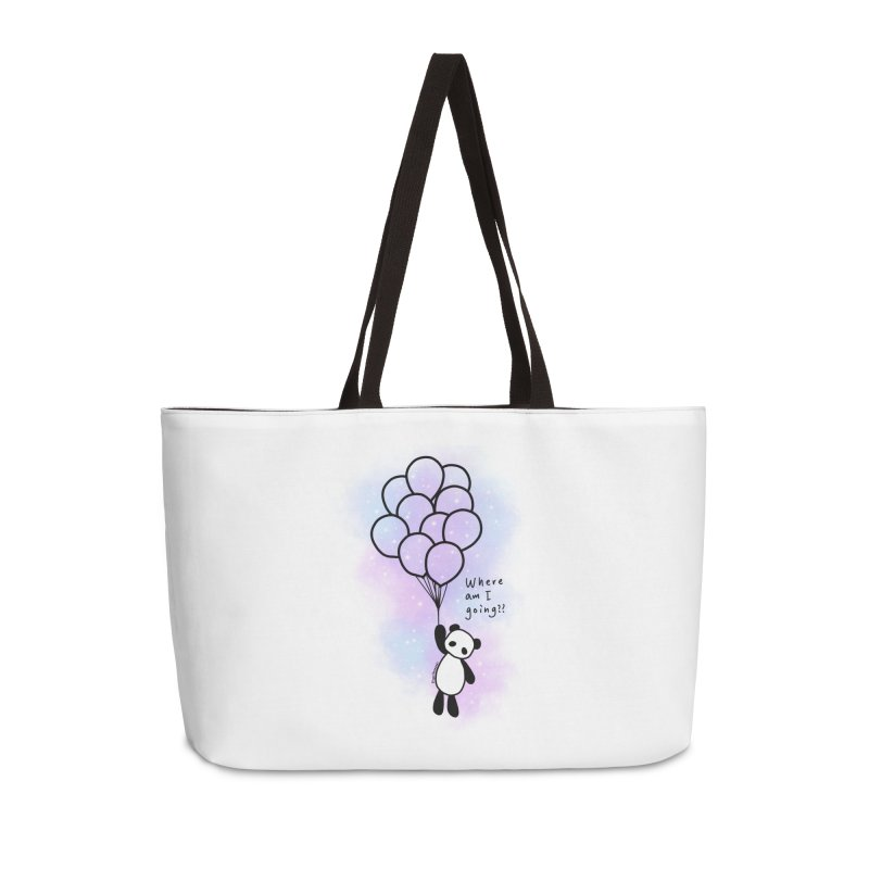 Panda Fly with Balloons Accessories Weekender Bag Bag by RingoHanasaki's Artist Shop