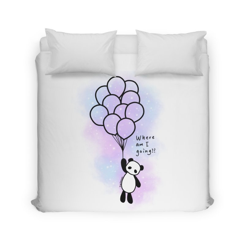 Panda Fly with Balloons Home Duvet by RingoHanasaki's Artist Shop