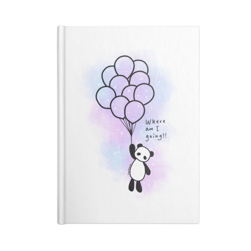 Panda Fly with Balloons Accessories Notebook by RingoHanasaki's Artist Shop