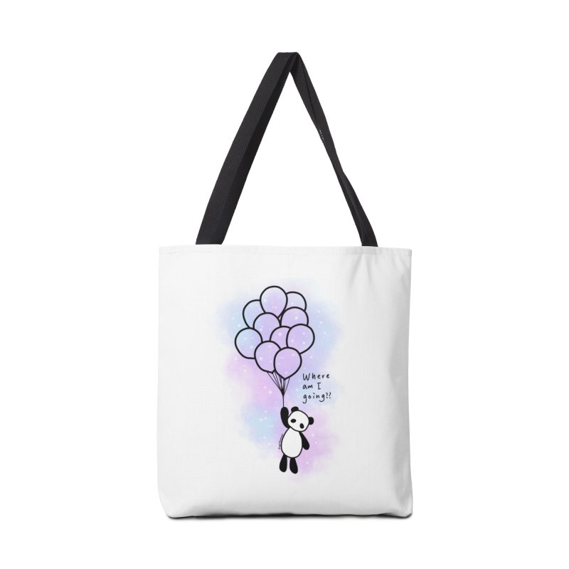 Panda Fly with Balloons Accessories Tote Bag Bag by RingoHanasaki's Artist Shop