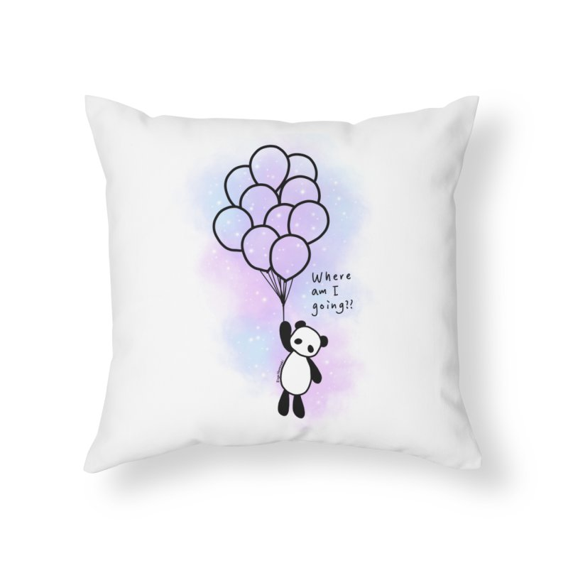 Panda Fly with Balloons Home Throw Pillow by RingoHanasaki's Artist Shop