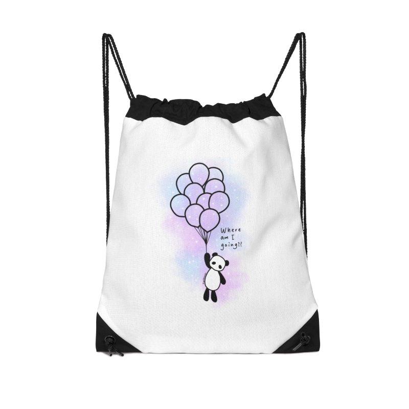Panda Fly with Balloons Accessories Bag by RingoHanasaki's Artist Shop
