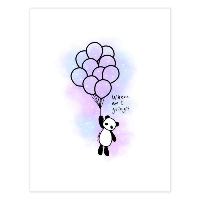 Panda Fly with Balloons Home Fine Art Print by RingoHanasaki's Artist Shop