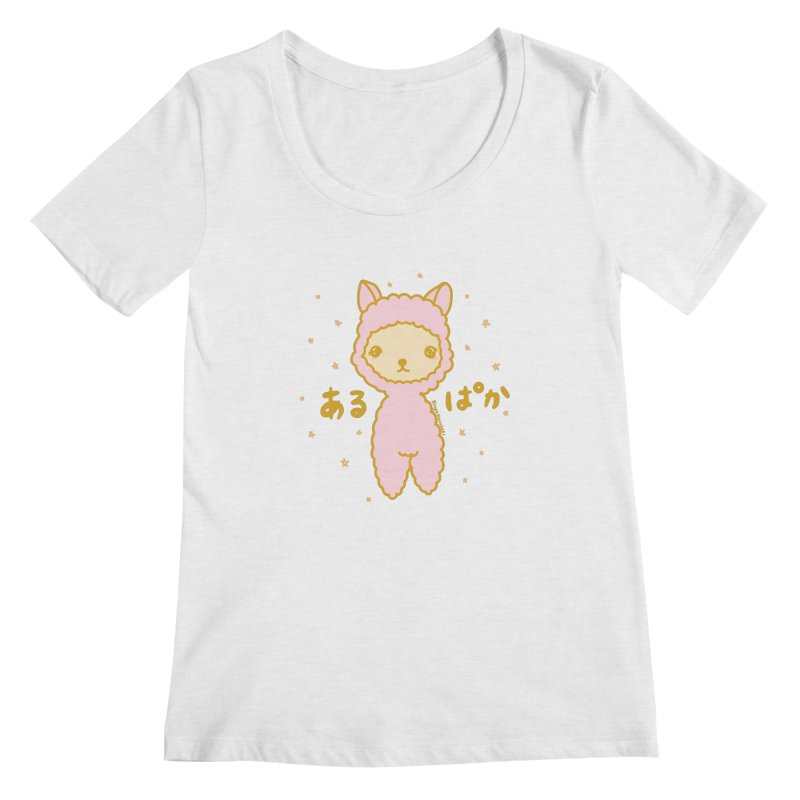 Kawaii Alpaca Women's Regular Scoop Neck by RingoHanasaki's Artist Shop