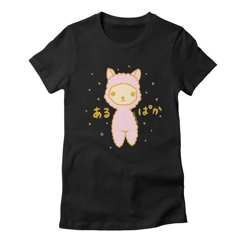 Kawaii Alpaca Women's Fitted T-Shirt by RingoHanasaki's Artist Shop