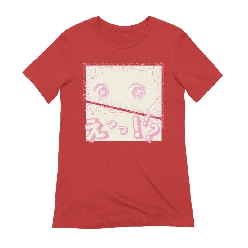 Curious Manga Girl Women's Extra Soft T-Shirt by RingoHanasaki's Artist Shop