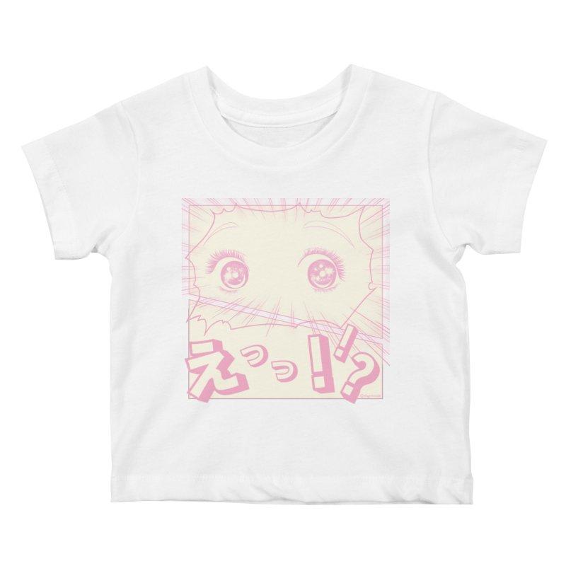 Curious Manga Girl Kids Baby T-Shirt by RingoHanasaki's Artist Shop