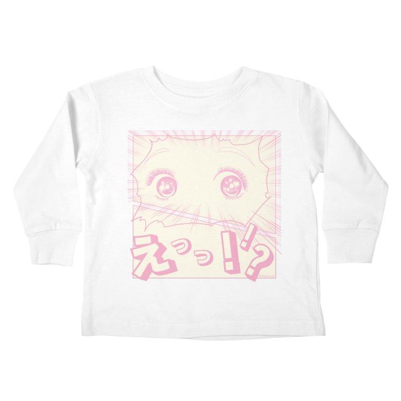 Curious Manga Girl Kids Toddler Longsleeve T-Shirt by RingoHanasaki's Artist Shop