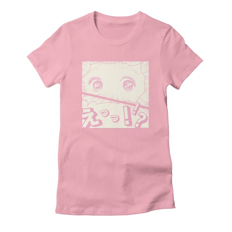 Curious Manga Girl Women's Fitted T-Shirt by RingoHanasaki's Artist Shop