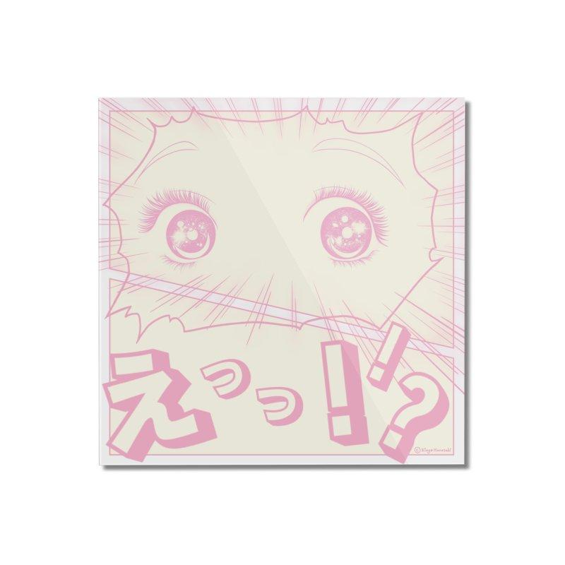 Curious Manga Girl Home Mounted Acrylic Print by RingoHanasaki's Artist Shop