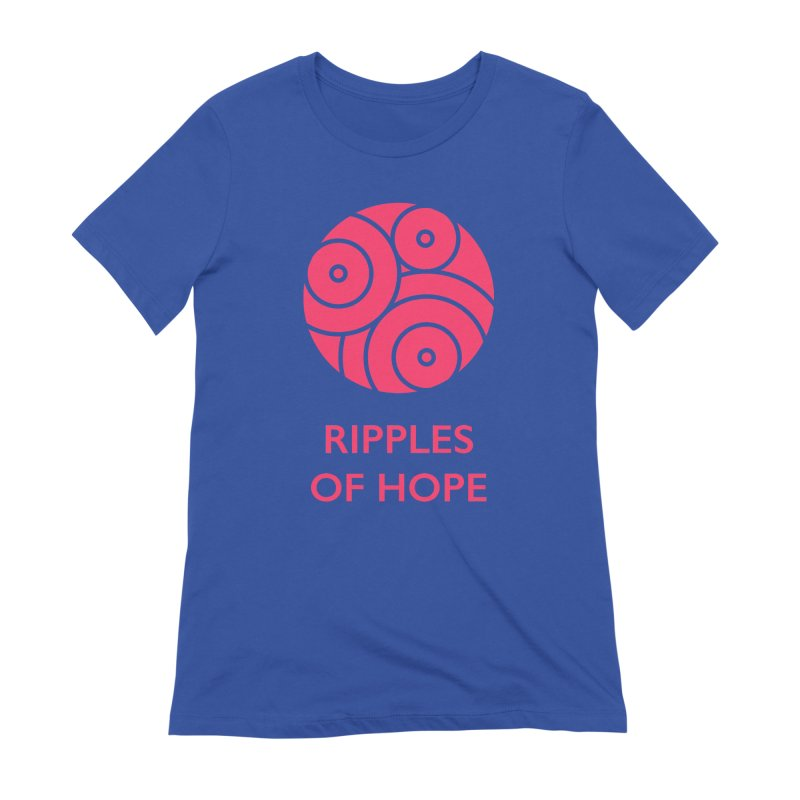 Ripples of Hope - Vertical - Red Women's Extra Soft T-Shirt by Ripples of Hope Swag Shop