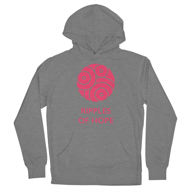 Ripples of Hope - Vertical - Red Women's Pullover Hoody by Ripples of Hope Swag Shop