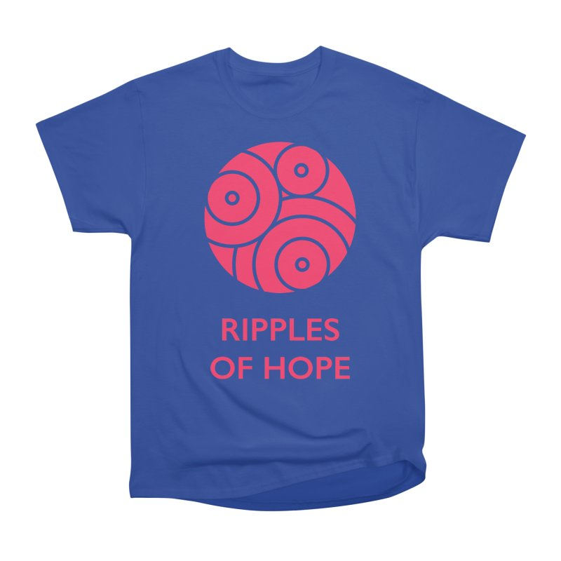 Ripples of Hope - Vertical - Red Women's Heavyweight Unisex T-Shirt by Ripples of Hope Swag Shop