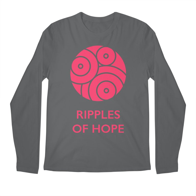 Ripples of Hope - Vertical - Red Men's Longsleeve T-Shirt by Ripples of Hope Swag Shop