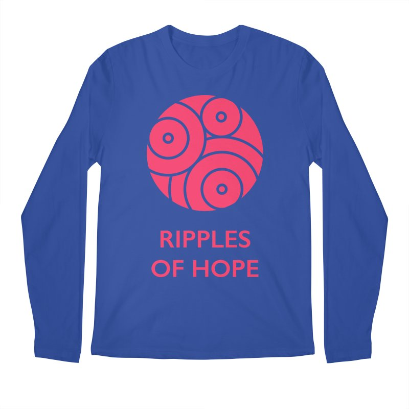 Ripples of Hope - Vertical - Red Men's Regular Longsleeve T-Shirt by Ripples of Hope Swag Shop