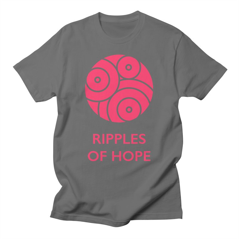 Ripples of Hope - Vertical - Red Men's T-Shirt by Ripples of Hope Swag Shop