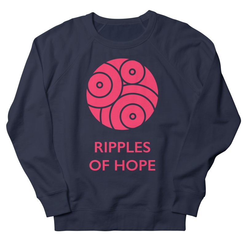 Ripples of Hope - Vertical - Red Women's French Terry Sweatshirt by Ripples of Hope Swag Shop