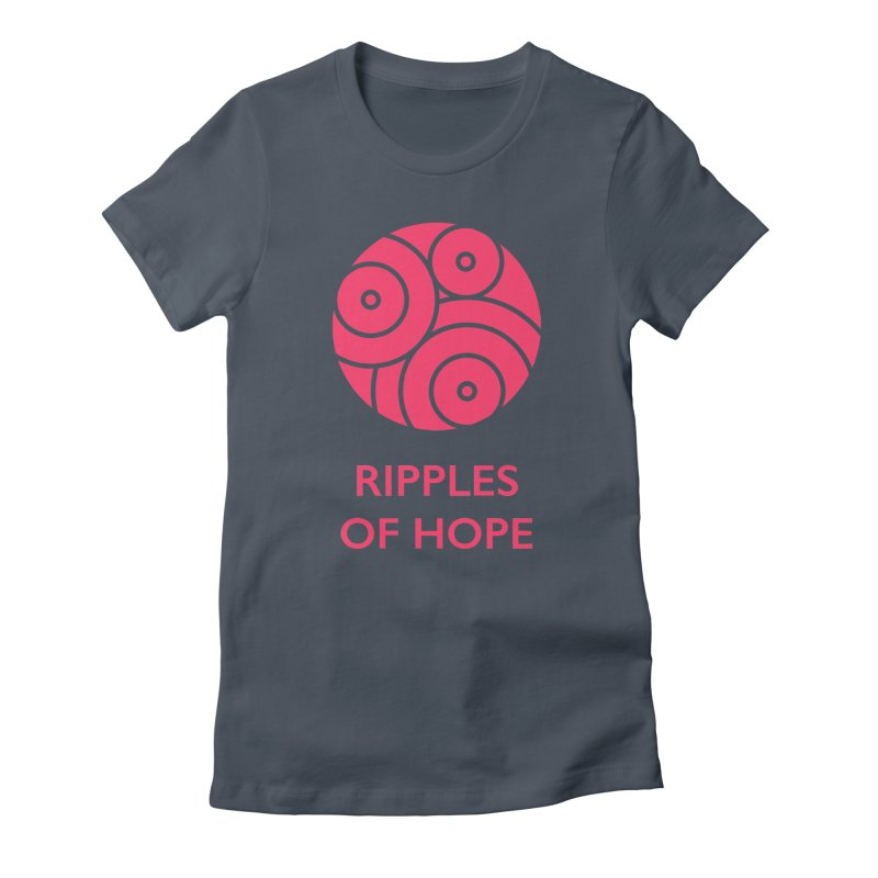 Ripples of Hope - Vertical - Red Women's T-Shirt by Ripples of Hope Swag Shop