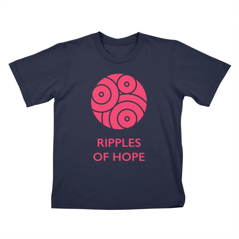 Ripples of Hope - Vertical - Red Kids T-Shirt by Ripples of Hope Swag Shop
