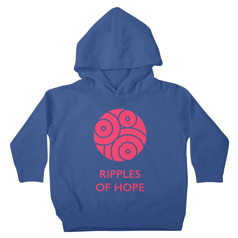 Ripples of Hope - Vertical - Red Kids Toddler Pullover Hoody by Ripples of Hope Swag Shop