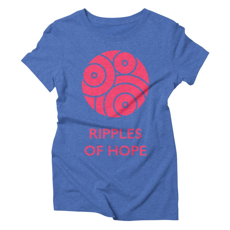 Ripples of Hope - Vertical - Red Women's Triblend T-Shirt by Ripples of Hope Swag Shop