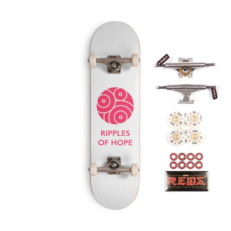 Ripples of Hope - Vertical - Red Accessories Complete - Pro Skateboard by Ripples of Hope Swag Shop