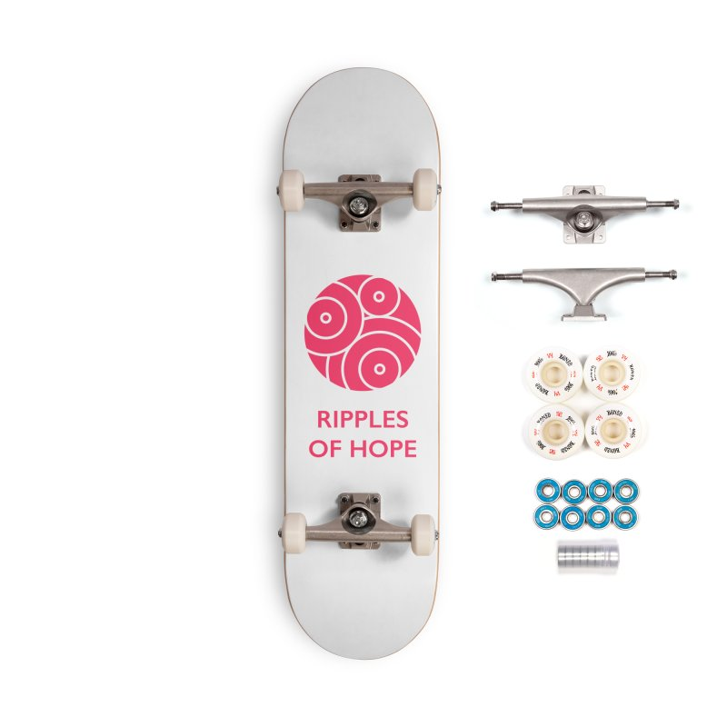 Ripples of Hope - Vertical - Red Accessories Complete - Premium Skateboard by Ripples of Hope Swag Shop