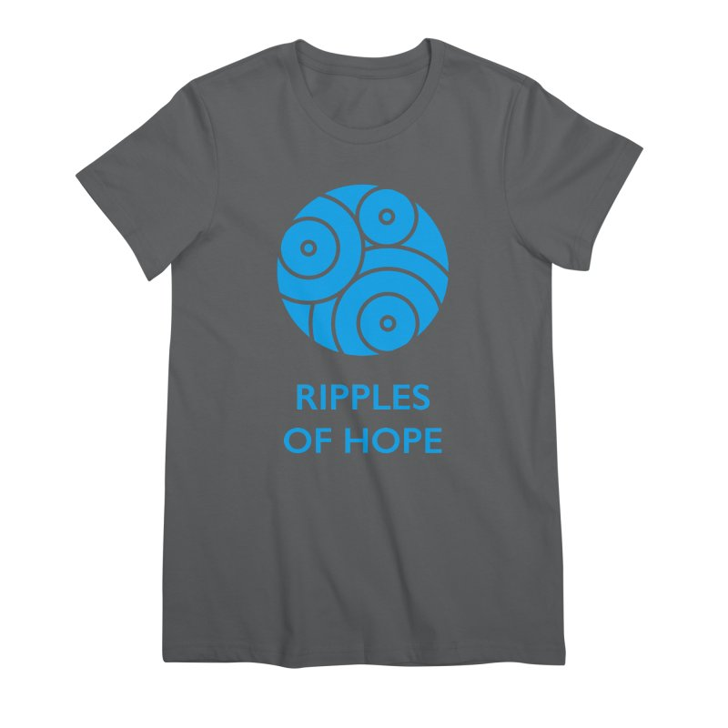 Ripples of Hope - Vertical - Blue Women's T-Shirt by Ripples of Hope Swag Shop