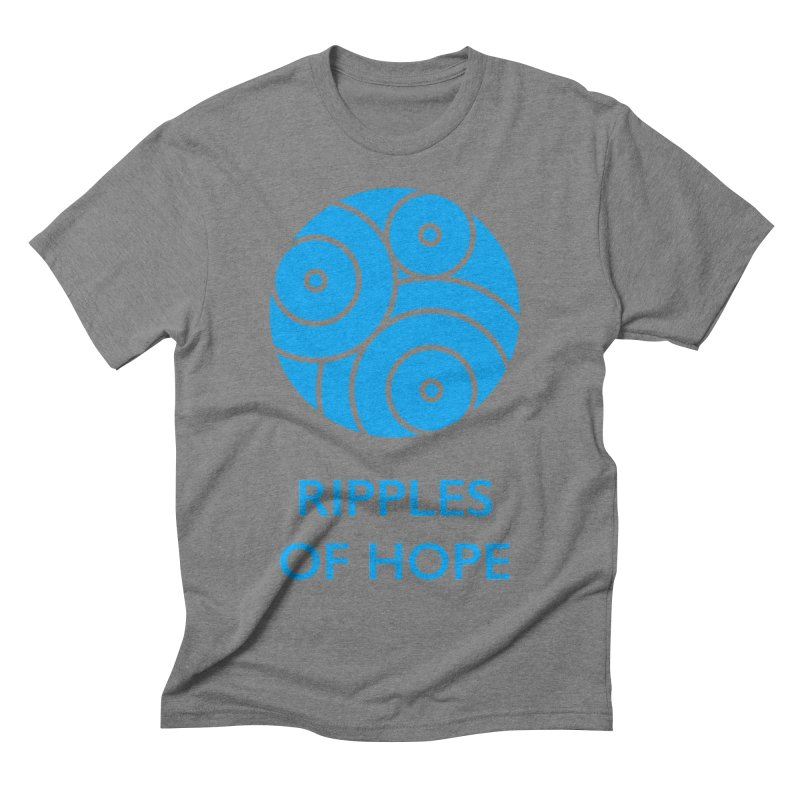 Ripples of Hope - Vertical - Blue Men's T-Shirt by Ripples of Hope Swag Shop