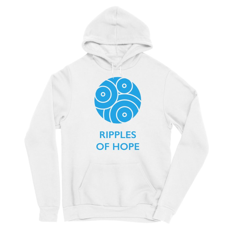 Ripples of Hope - Vertical - Blue Men's Pullover Hoody by Ripples of Hope Swag Shop