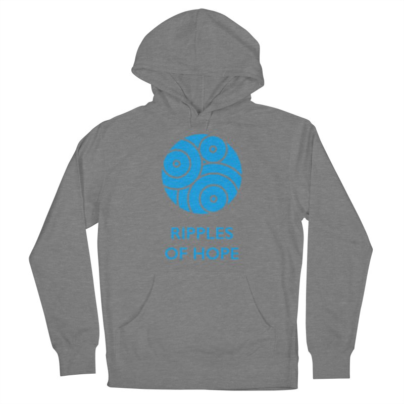 Ripples of Hope - Vertical - Blue Women's Pullover Hoody by Ripples of Hope Swag Shop