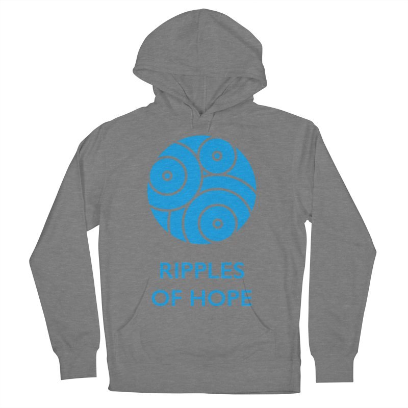 Ripples of Hope - Vertical - Blue Women's French Terry Pullover Hoody by Ripples of Hope Swag Shop