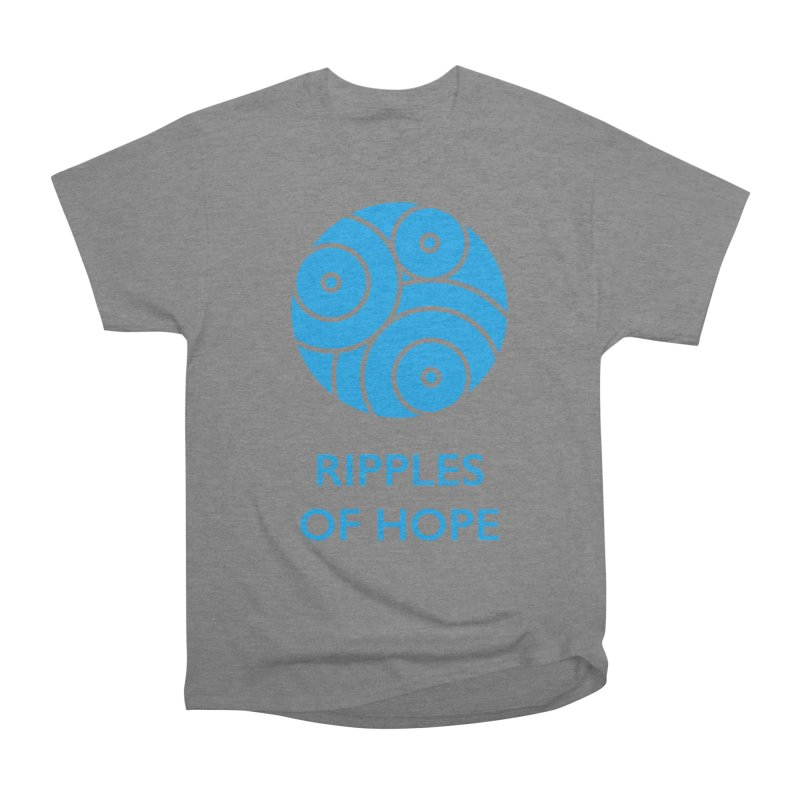 Ripples of Hope - Vertical - Blue Men's Heavyweight T-Shirt by Ripples of Hope Swag Shop