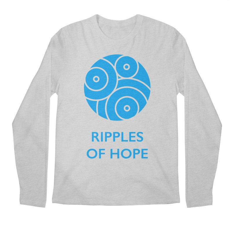 Ripples of Hope - Vertical - Blue Men's Longsleeve T-Shirt by Ripples of Hope Swag Shop